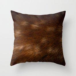 Deer Fur Throw Pillow