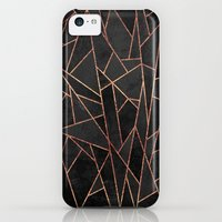 iPhone 5c Case featuring Shattered Black / 2 by Elisabeth Fredriksson