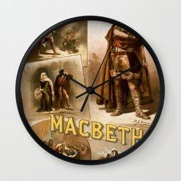 Vintage Macbeth Theatre Poster Wall Clock