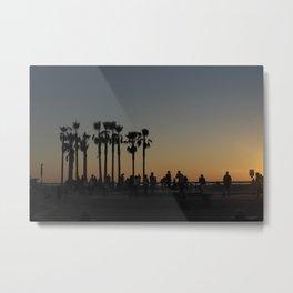 SUNSET AT VENICE SKATEPARK Metal Print