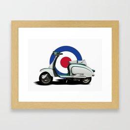 Mod scooter Framed Art Print