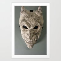 celtic Art Prints featuring celtic demon by ronnie mcneil