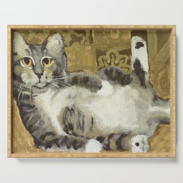 Risque Tabby Serving Tray