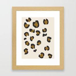 SEEING SPOTS - NEUTRAL Framed Art Print