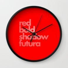 MetaType Red Wall Clock