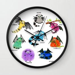 Eight Little Iggys Wall Clock
