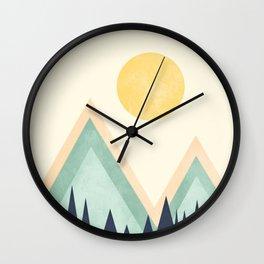 Rustic Sunset Wall Clock