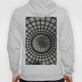 Tiffany Glass Dome Black/White Photography Hoody