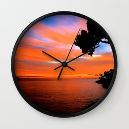 Menton Sunset Wall Clock