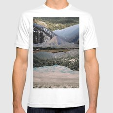 Mountains beyond mountains White MEDIUM Mens Fitted Tee