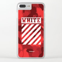Off-White Bape Camo Red Clear iPhone Case
