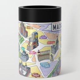 MADRID CITY by Javier Arrés. Madrid Map Illustration. Can Cooler