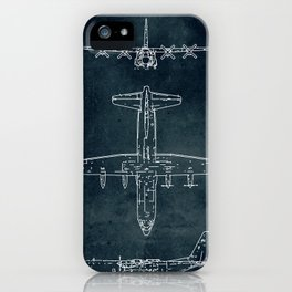 LOCKHEED C-130 HERCULES - First flight 1954 iPhone Case