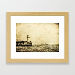 Old Lighthouse (vintage) Framed Art Print