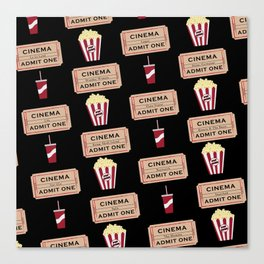 Let's Go to the Movie theatre Canvas Print