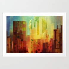 Urban Sunset II Art Print