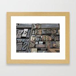 Typeface II Framed Art Print