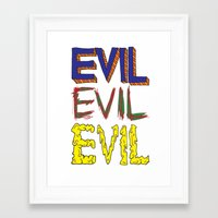 evil Framed Art Prints featuring Evil by Michael Interrante