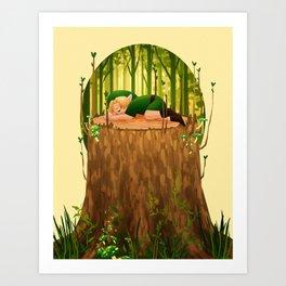 Forest Nap Art Print