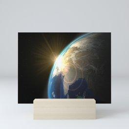 Out Space Sunrise Mini Art Print
