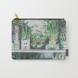 green bamboo plant in the vase pattern background Carry-All Pouch