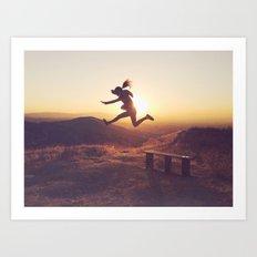 Jump for joy! Art Print
