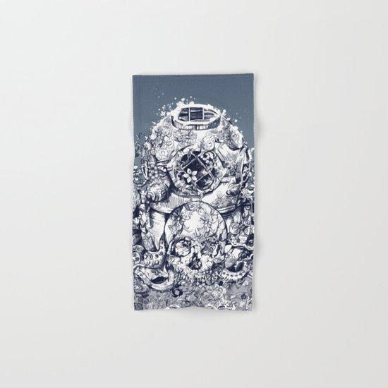 vintage floral skull 3 Hand & Bath Towel