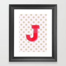 J is for Joy Framed Art Print