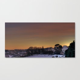 Sunset On Mars, Year 3011 Canvas Print