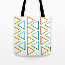 Impossible triangles geeky pattern. Tote Bag
