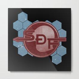 Solar System Defense Force ボーダーダウン Metal Print