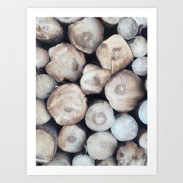 natural wood Art Print