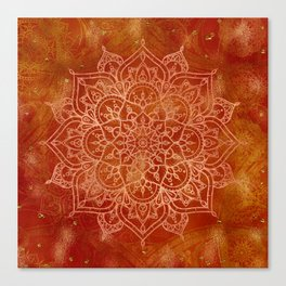 Orange Mandala Canvas Print
