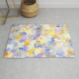 Spring Daffodil Flowers In Cubes Rug