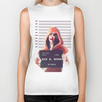 red riding hood Biker Tanks featuring Red Riding Hood by adroverart