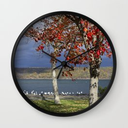 Autumn Day in the Finger Lakes I Wall Clock