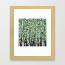 Springtime Birch Forest Framed Art Print