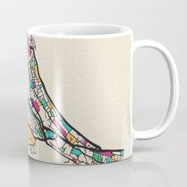 Colorful City Maps: Dubrovnik, Croatia Coffee Mug