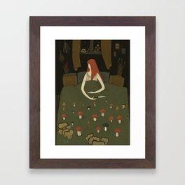 mushroom bed Framed Art Print