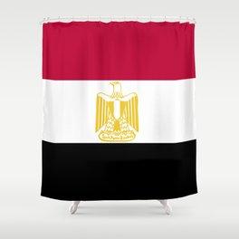 Egypt flag emblem Shower Curtain
