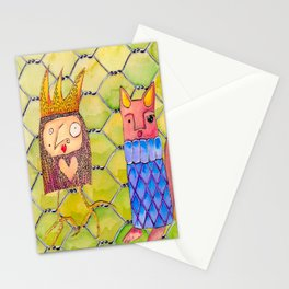 Fox and Chicken in the Coop Stationery Cards