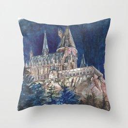 Hogwarts Painting  Throw Pillow
