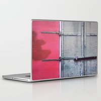 memphis Laptop & iPad Skins featuring Memphis Window by wendygray