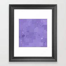 Violet Tulip Square Pixel Color Accent Framed Art Print