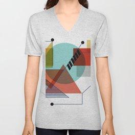 Bauhaus Kandinsky Modern Art Unisex V-Neck