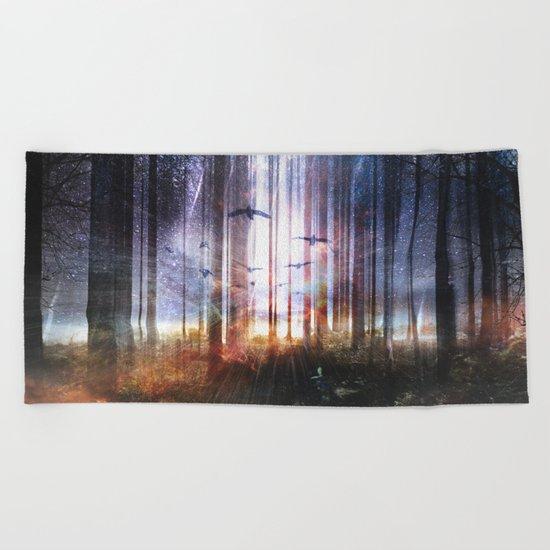 Absinthe forest Beach Towel