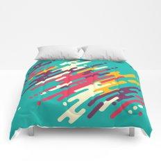 Rhythms on blue Comforters