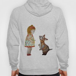 Child and Small Kangaroo (Watercolour) Hoody
