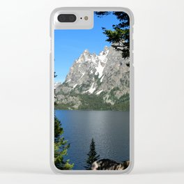 Jenny Lake Serenity Clear iPhone Case