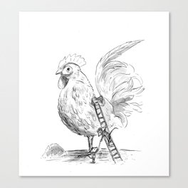 The Chicken Groomers Canvas Print
